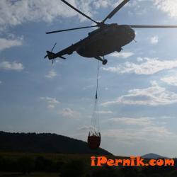 Военен хеликоптер успя да потуши пожара край Брезник 08_1439363505