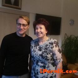 Вяра Церовска се срещна с художника Петър Георгиев Рей 10_1477808772