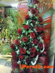 Огромен букет от 33 червени рози