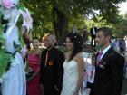 За първи път сватба на крепостта в Перник - младоженците и кумовете