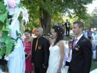 За първи път сватба на крепостта в Перник - младоженците и кумовете- 132