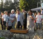 Президентът Георги Първанов на крепостния хълм в Перник- 19.08.2011